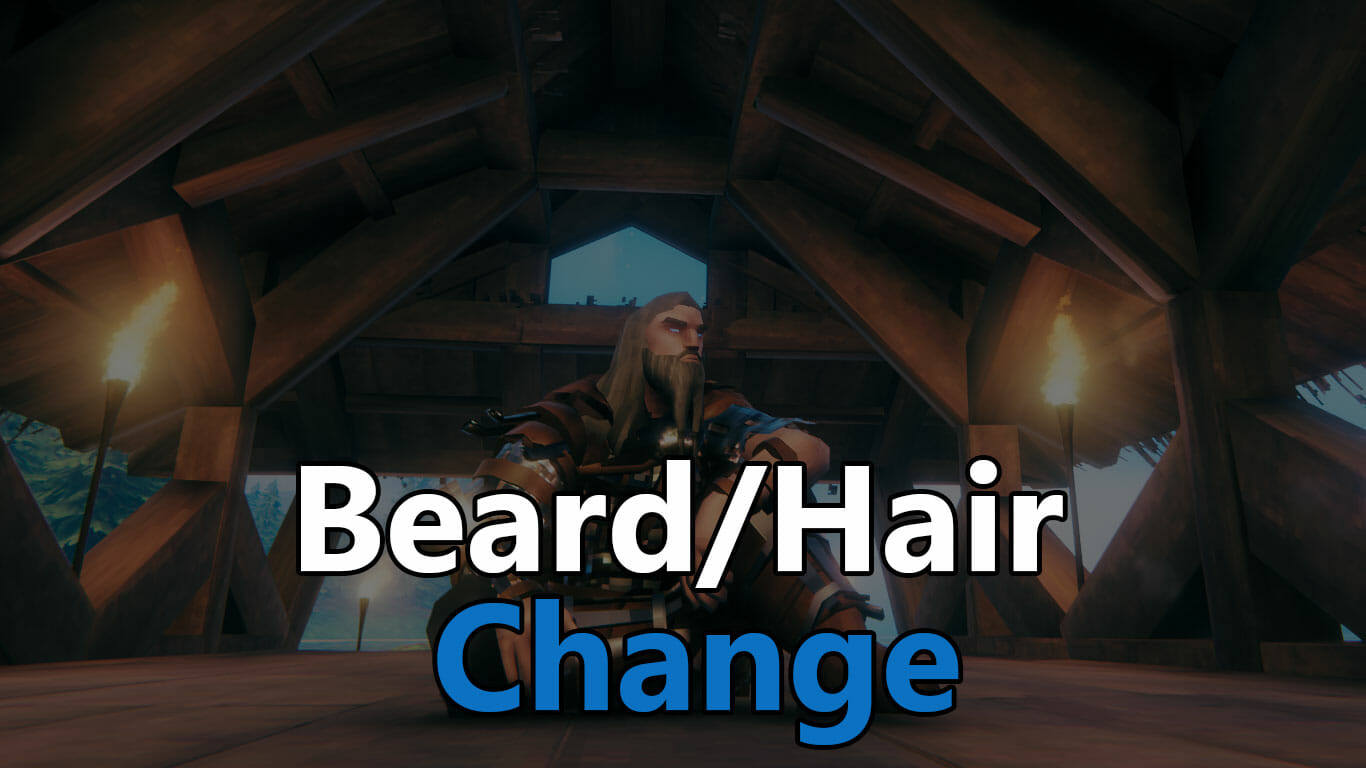change beard hair valheim